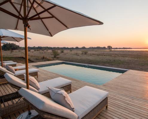 Chikwenya Lodge Pool - Private Guides - Wild Again